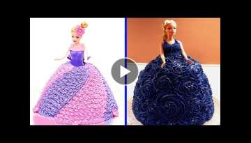 Top 4 Barbie Cake Tutorial Compilation 2019 - YUMMY CAKE - Most Satisfying Cake Styles Video