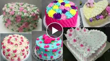 Top 10 idéias lindas para decorar bolos com rosas de chantilly
