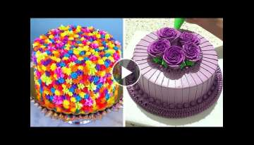 Amazing Cake Decorating Tutorial for Weekend | Chocolate Cake Recipe Ideas | Perfect Cake Decorat...