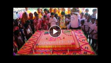 185 Pounds Vanilla Cake Making To Celebrate 2 Million Subscribers of AroundMeBD With Village Peop...