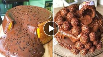 Chocolate Cake Hacks | Chocolate Cake Recipe | 10+ DIY Cake Decorating Tutorial