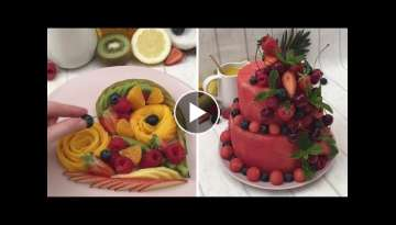 A Fruity Extravaganza ???????????? What in the Watermelon ???? No-Bake Fruit Cake???? #PRIDE cock...