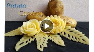 Potato Carving | carving fruits | By BÀN TAY ĐEN #carving #watermelon