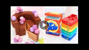 How To Make Rainbow Cake Decorating Ideas | So Yummy Cake Hacks | Tasty Plus Cake Tutorials