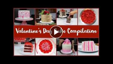 Valentine's Day Cake Decorating Compilation | CHELSWEETS