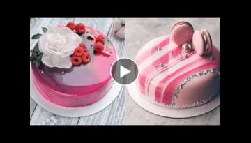 Most Satisfying Mirror Glaze Cake Amazing Cake Decorating compilation