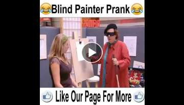 Blind Painter Prank