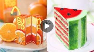 Top 20 Amazing Fruit Cake Decorating Compilation & Cake Style 2017 - Oddly Satisfying Cake Video