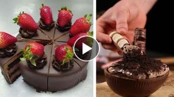 DIY Make Chocolate Dessert Hacks - How To Make a Chocolate Cake Decoration Ideas