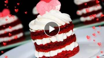 RED VELVET Mini Cakes For Valentine's Day ❤ Amazing Valentine's Day Dessert ❤ Tasty Cooki...