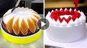 Most Satisfying Chocolate Cake Decorating | Quick Cake Decorating Ideas | Perfect Cake Decorating