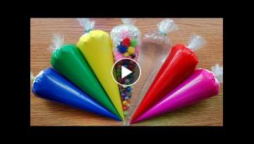 Making Crunchy Slime with Piping Bags #12