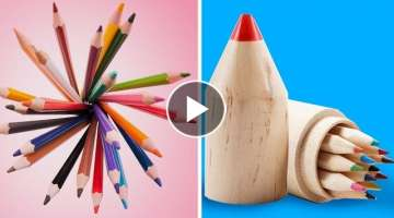 20 DIY SCHOOL SUPPLY IDEAS AND HACKS