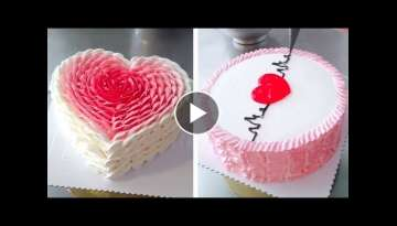 Amazing Heart Cake Decorating Tutorial for Valentines | Most Satisfying Chocolate Cake | So Easy