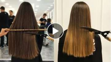 10 Top Amazing Ways To Cut Long Hair.Long Hair Cut Transformation Tutorial Compilation