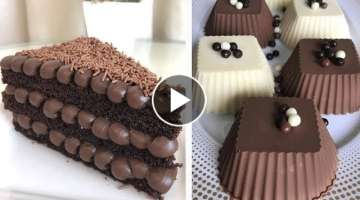 Homemade Chocolate Cake With Milk Cream Recipes | The Best Chocolate Cake Decorating Recipes Idea...