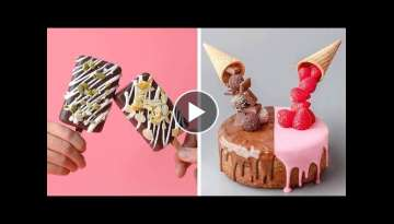 How To Make Cake Decorating Design Ideas | So Yummy Chocolate Cake Recipes | Tasty Plus Cake