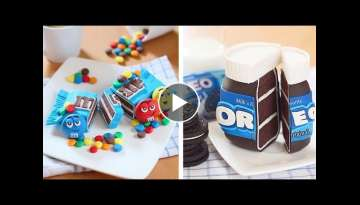 Most Amazing Oreo, KitKat Chocolate Cake Decorating Recipes | So Yummy KitKat Milk Tutorials