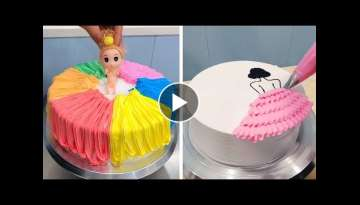 Easy & Quick Cake Decorating Tutorial | Most Satisfying Chocolate Cake | Perfect Cake Decorating