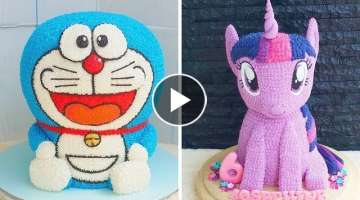 Most Satisfying Cake Decorating Ideas Compilation For Birthday | Yummy Chocolate Cake Recipes