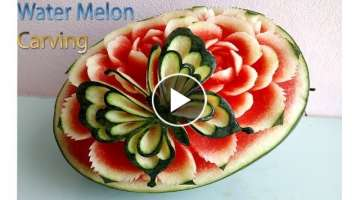 Butterfly Carving | Watermelon new design | carving fruits | By BÀN TAY ĐEN #carving #watermelo...
