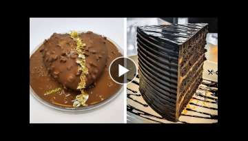 How To Make Chocolate Cake Decorating | So Yummy Cakes Recipe Tutorial