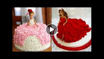 Top 5 Barbie Cake Tutorial Compilation 2017 - Most Satisfying Cake Styles Video
