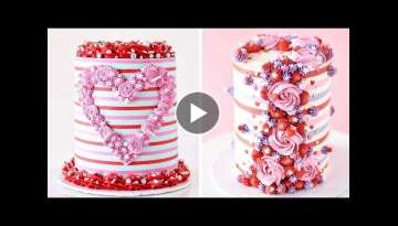 Sweet Heart Cake Decorating | 10+ Best Beautiful Buttercream Cake Recipes | Extreme Cake