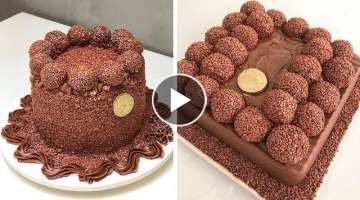 Chocolate Cake Hacks | Yummy Cake Recipes | So Yummy Best Chocolate Cake Decorating Video