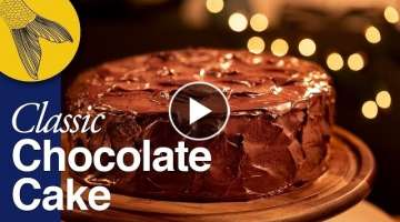 Classic Chocolate Cake with Rich Chocolate Ganache--Christmas Special Easy Cake Recipe