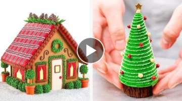 Christmas Is Coming????⛄️???? Yummy Christmas Cake Recipes????10 Perfect Chocolate Cake Decor...