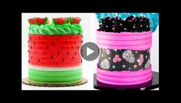 10+ Awesome Colorful Buttercream Cake Decorating Ideas | Best Extreme Cake Good For Health