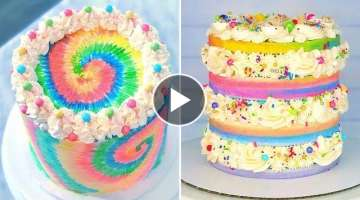 The Best Rainbow Cake Recipe Ever | 10+ Colorful Cake Decorating Tutorials | Extreme Cake