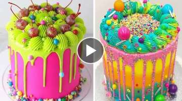 20+ Awesome Colorful Cake Decorating Ideas For Party | Best Extreme Buttercream Cake Tutorial