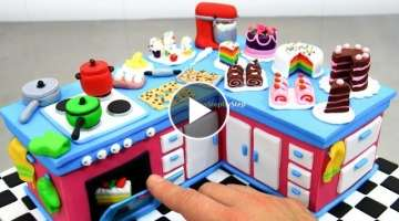 KITCHEN CAKE with Miniature Cakes | 食べれるミニチュア