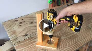 Making a Mobile Drill Press (Drill Guide) - El Yapımı Matkap Kılavuzu