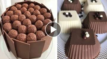 Most Satisfying Chocolate Cake Decorating Tutorials | Top 10 Easy Chocolate Cake Decorating Ideas
