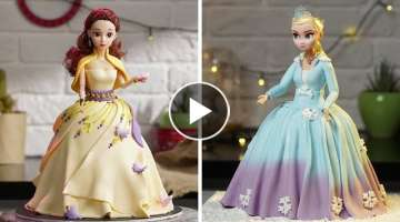 5 Beautiful Barbie Cake Decorating | Amazing Princess Cake Decorating Ideas | Yummy Cake Story