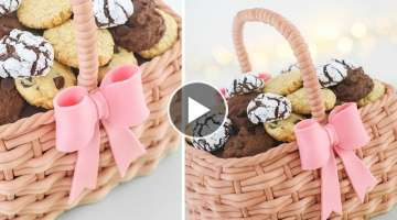 Basket Cake Tutorial + 4 Easy Cookies Recipes - Tan Dulce
