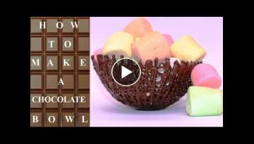 How To Make CHOCOLATE Basket BOWLS Chocolate Hacks by CakesStepbyStep
