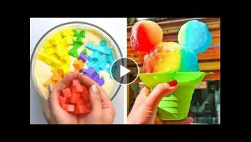 How To Make Rainbow Cake Decorating Ideas | So Yummy Cake Hacks Recipes | Tasty Plus