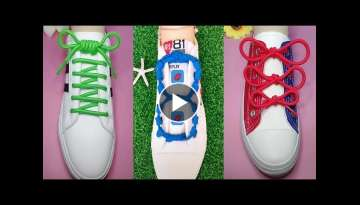 36 Creative Ways to fasten Shoelaces - Cool ideas how to tie shoe laces