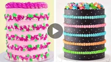 15+ Awesome Colorful Buttercream Cake Decorating Ideas | Best Extreme Cake Good For Health