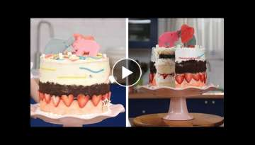 Kid Makes Cute Ice Cream Layer Cake for her Mom!! | Kids Give the Scoop by So Yummy